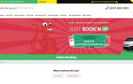 Go with gecko (car booking)